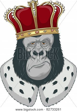 Monkey in a crown