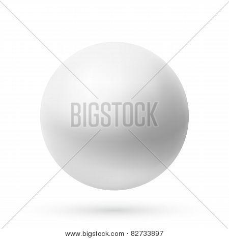 Realistic sphere icon