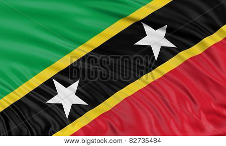 3D flag of Saint Kitts and Nevis