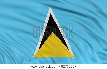 3D flag of Saint Lucia