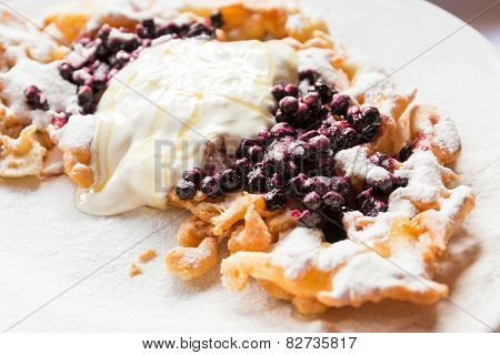 Delicious Bilberry Pancake