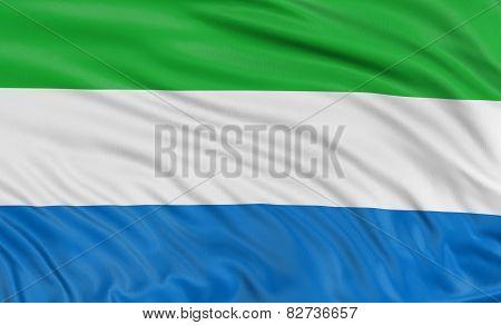 3D flag of Sierra Leone