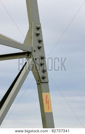High Voltage Sign On Frame