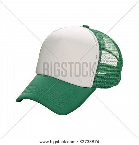 Baseball Cap Green Isolated