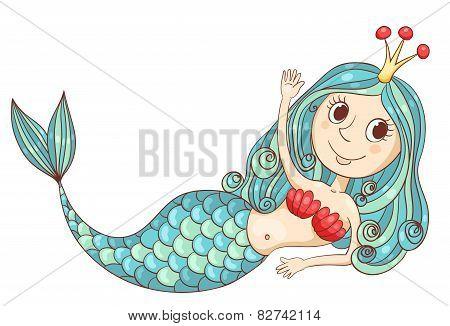 Cute Lying Mermaid