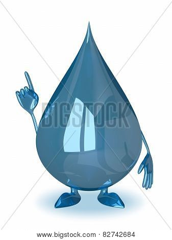 Water Drop Character, Idea