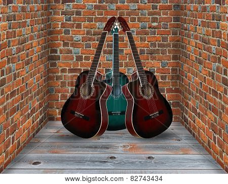 Three Guitars In The Corner Of The Room