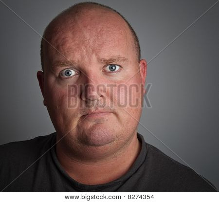 Dark Portrait Photo Of Depressed Down Male
