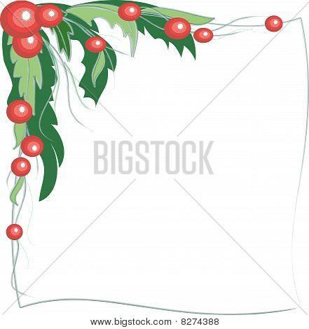 Elegant floral frame.