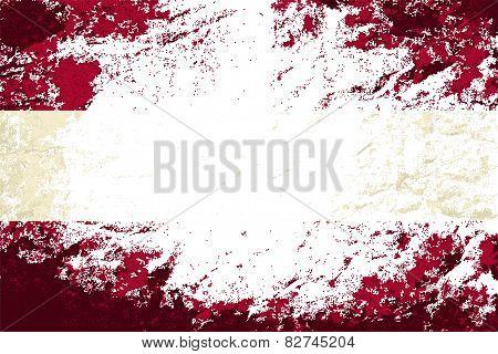 Austrian flag. Grunge background. Vector illustration