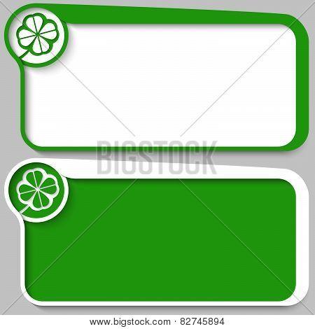 green Vector text frames