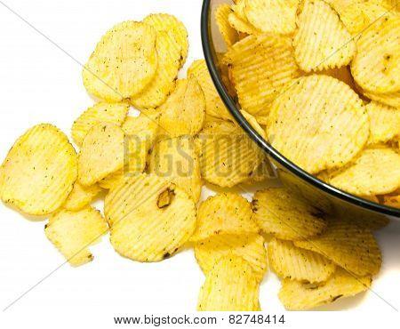 Many Ruffles Potato Chips