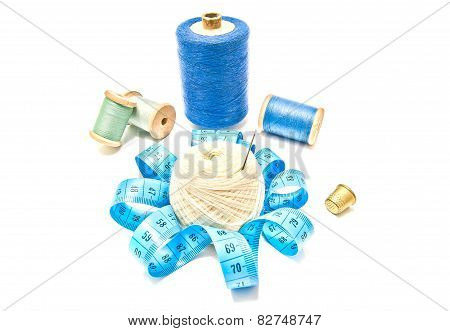 Spools Of Thread And Meter