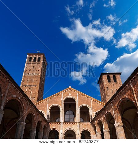 Basilica Of Saint Ambrogio Milano Italy