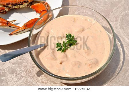 Seafood Bisque with Crab