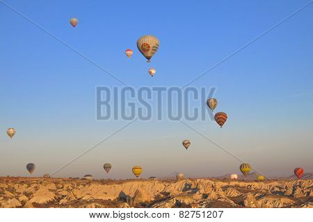 Cappadocia TURKEY - NOVEMBER 13 ,2014 : Discover the amazing landscape of the Cappadocia region of T
