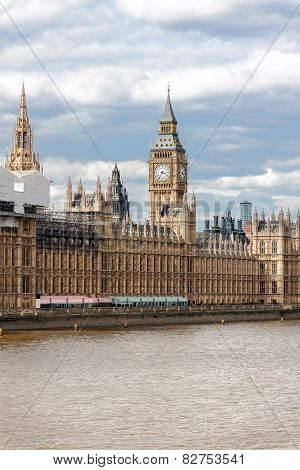 The Palace Of Westminster In London.