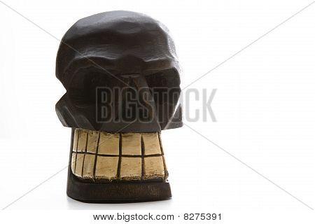 Dia De Los Muertos Wood Skull