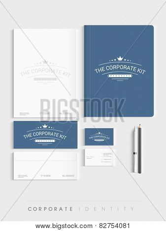 Creative corporate identity kit for your business includes Letterhead, Visiting Cards, Envelopes, Brochure and stationary.