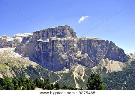 Mountains Saas Pordoi