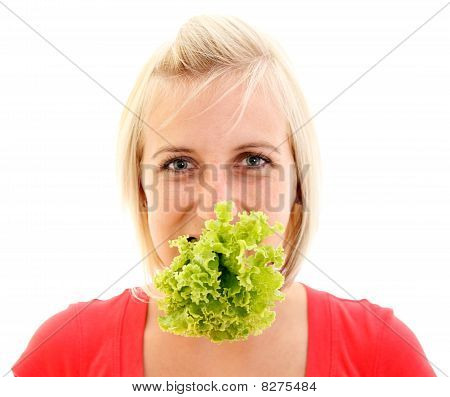 Young Girl With Lettuce