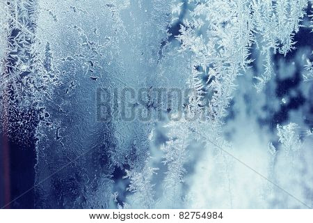 Frozen patterns background
