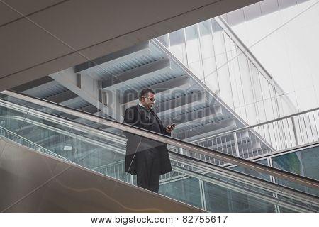 Man Visiting Bit 2015, International Tourism Exchange In Milan, Italy