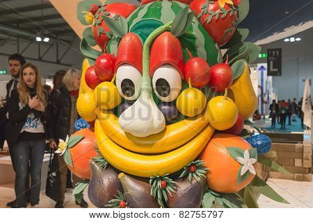 Mascot Foody Posing Bit 2015, International Tourism Exchange In Milan, Italy