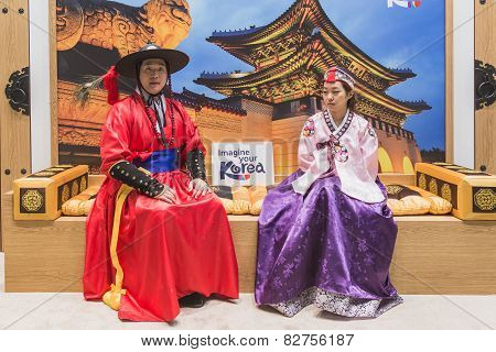 Korean People At Bit 2015, International Tourism Exchange In Milan, Italy