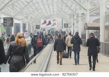 People Visiting Bit 2015, International Tourism Exchange In Milan, Italy