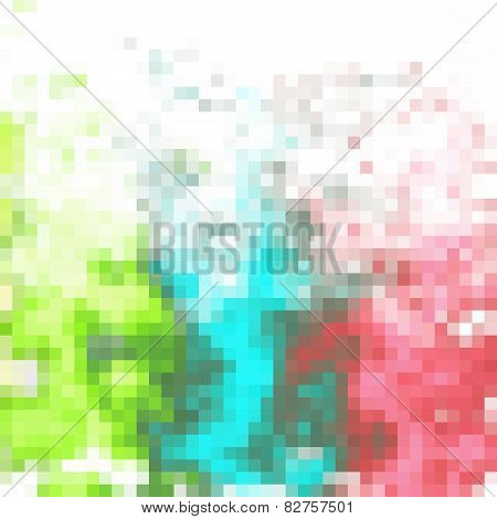 Colorful Pixelated Stains Pattern On White