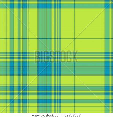 Gingham Texture In Blue And Green