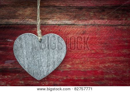 wooden grunge love heart background