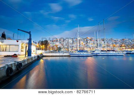 Mikrolimano marina in Athens.