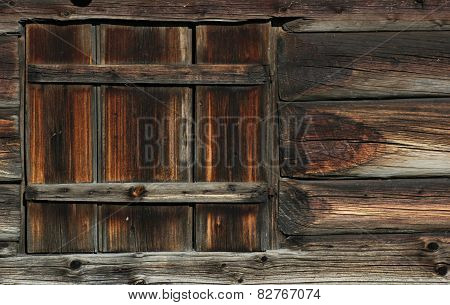 Lath Texture With Window