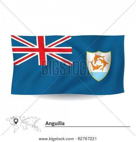 Flag of Anguilla - vector illustration