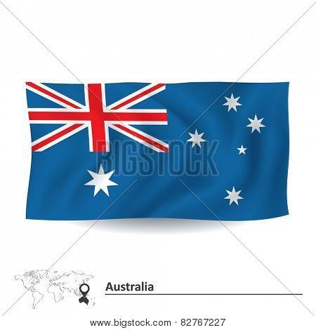 Flag of Australia - vector illustration