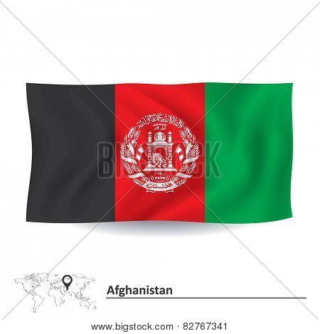 Flag of Afghanistan - vector illustration