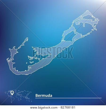 Map of Bermuda - vector illustration