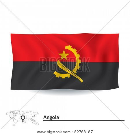 Flag of Angola - vector illustration