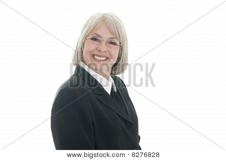 Cute Business Woman Smiling