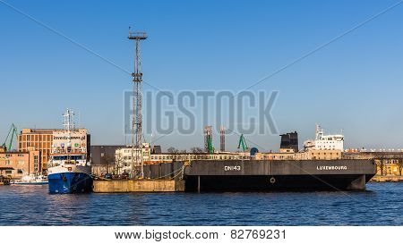 Quay in the Port of Gdynia