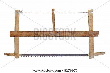Serra antiga de carpinteiro