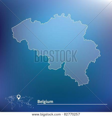 Map of Belgium - vector illustration