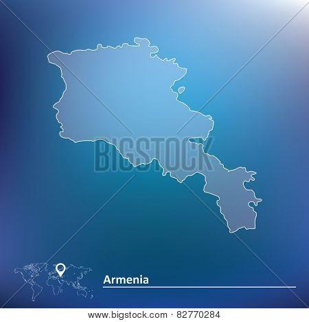 Map of Armenia - vector illustration