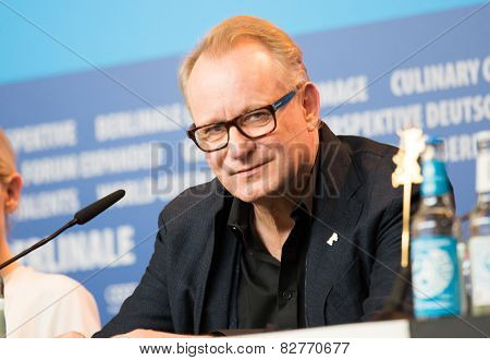 BERLIN, GERMANY - FEBRUARY 13: Stellan Skarsgard, 'Cinderella' press conference, 65th Berlinale International Film Festival at Grand Hyatt Hotel on February 13, 2015 in Berlin, Germany