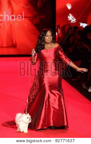 NEW YORK-FEB 12: Star Jones wears B Michael America at Go Red for Women - The Heart Truth Red Dress Collection at Mercedes-Benz Fashion Week at Lincoln Center on February 12, 2014 in New York City.
