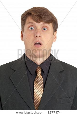 Extremely Surprised Businessman
