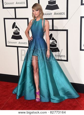 LOS ANGELES - FEB 08:  Taylor Swift arrives to the Grammy Awards 2015  on February 8, 2015 in Los Angeles, CA