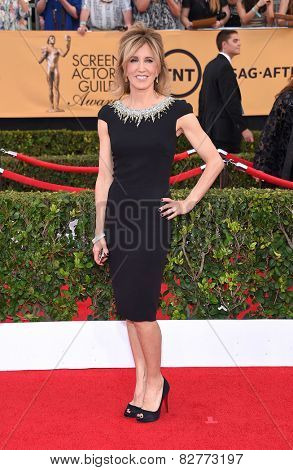 LOS ANGELES - JAN 25:  Felicity Huffman arrives to the 21st Annual Screen Actors Guild Awards  on January 25, 2015 in Los Angeles, CA
